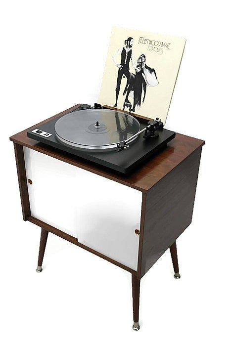 now available the vintedge co mid century retro record player stand