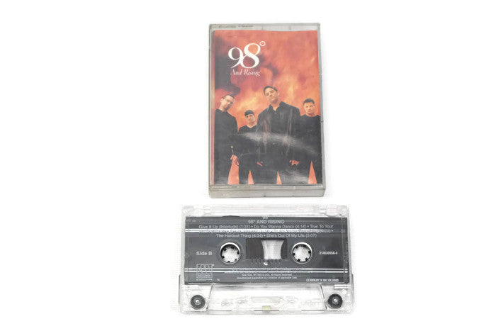 98 DEGREES - Vintage Cassette Tape - 98 DEGREES AND RISING