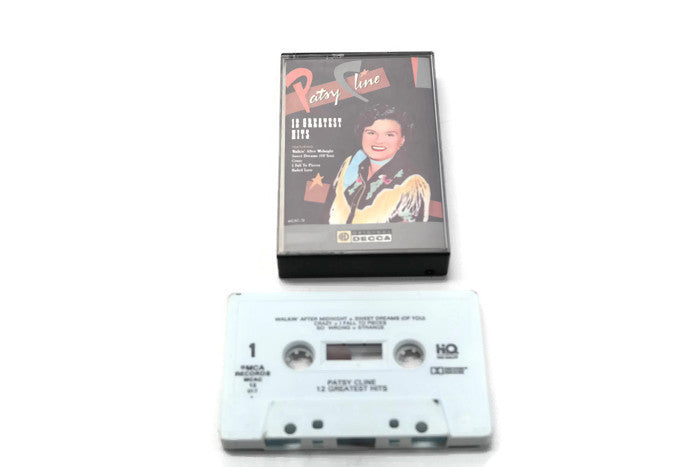 PATSY CLINE - Vintage Cassette Tape - 12 GREATEST HITS