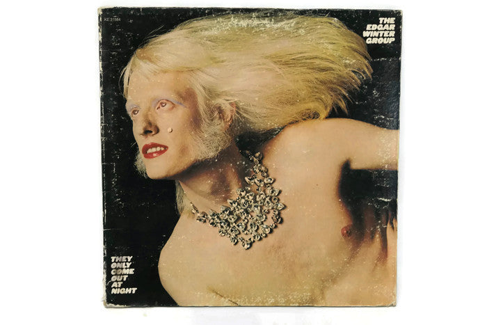 EDGAR WINTER GROUP - Vintage Record Vinyl Album - THEY ONLY COME OUT AT NIGHT