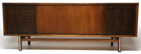 Mid Century Philco Stereo Console Record Player - Bluetooth - AM/FM Tuner - Record Changer