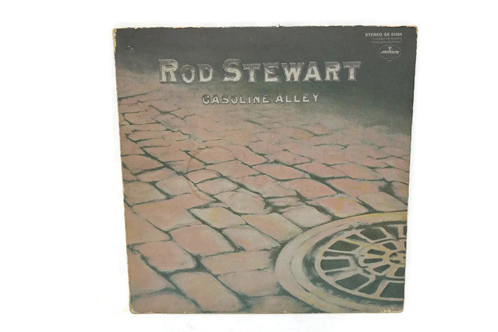 ROD STEWART - Vintage Record Vinyl Album - GASOLINE ALLEY