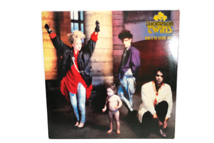THOMPSON TWINS - Vintage Record Vinyl Album - HERE'S TO FUTURE DAYS