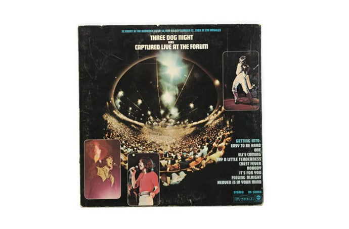 THREE DOG NIGHT - Vintage Record Vinyl Album - LIVE AT THE FORUM