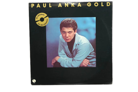 PAUL ANKA - Vintage Record Vinyl Album - GOLD