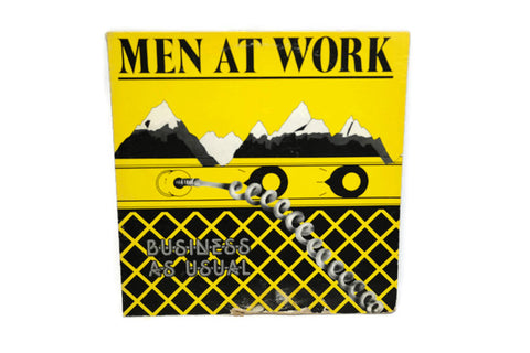 MEN AT WORK - Vintage Record Vinyl Album - BUSINESS AS USUAL