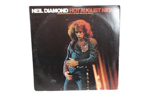 NEIL DIAMOND - Vintage Record Vinyl Album - HOT AUGUST NIGHTS