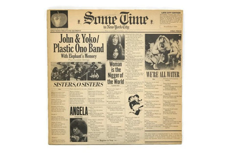 JOHN & YOKO / PLASTIC ONO BAND - Vintage Vinyl Record Album - SOME TIME IN NEW YORK CITY