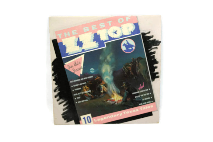 THE BEST OF ZZ TOP - Vintage Vinyl Record Album - LEGENDARY TEXAS TALES