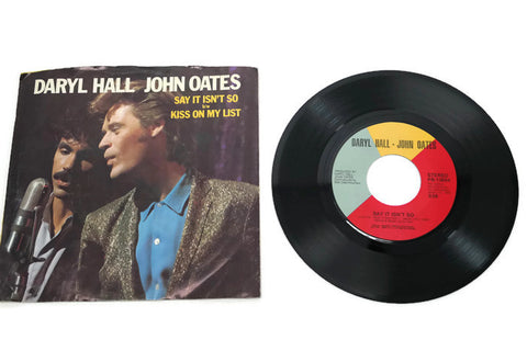 HALL & OATES - Vintage Record Vinyl Album - SAY IT ISN'T SO
