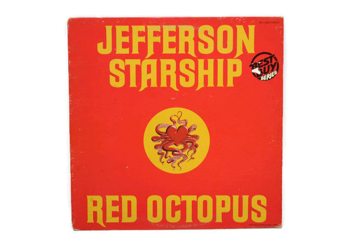 JEFFERSON STARSHIP - Vintage Vinyl Record Album - RED OCTOPUS