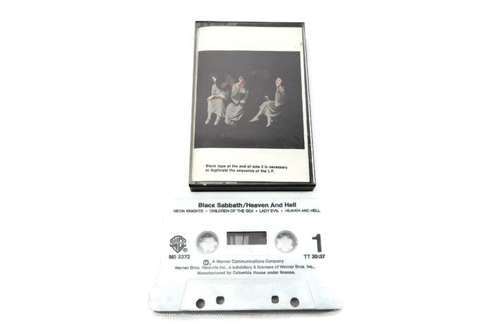 BLACK SABBATH - Vintage Cassette Tape - HEAVEN AND HELL