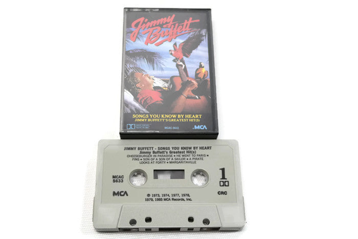 JIMMY BUFFETT - Vintage Cassette Tape - SONGS YOU KNOW BY HEART