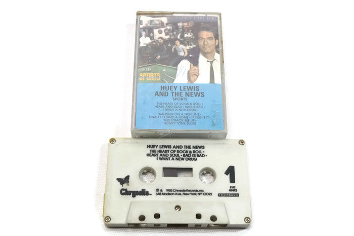 HUEY LEWIS & THE NEWS - Vintage Cassette Tape - SPORTS