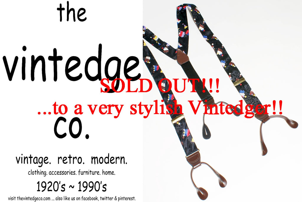 SOLD - Vintage Mens Suspenders