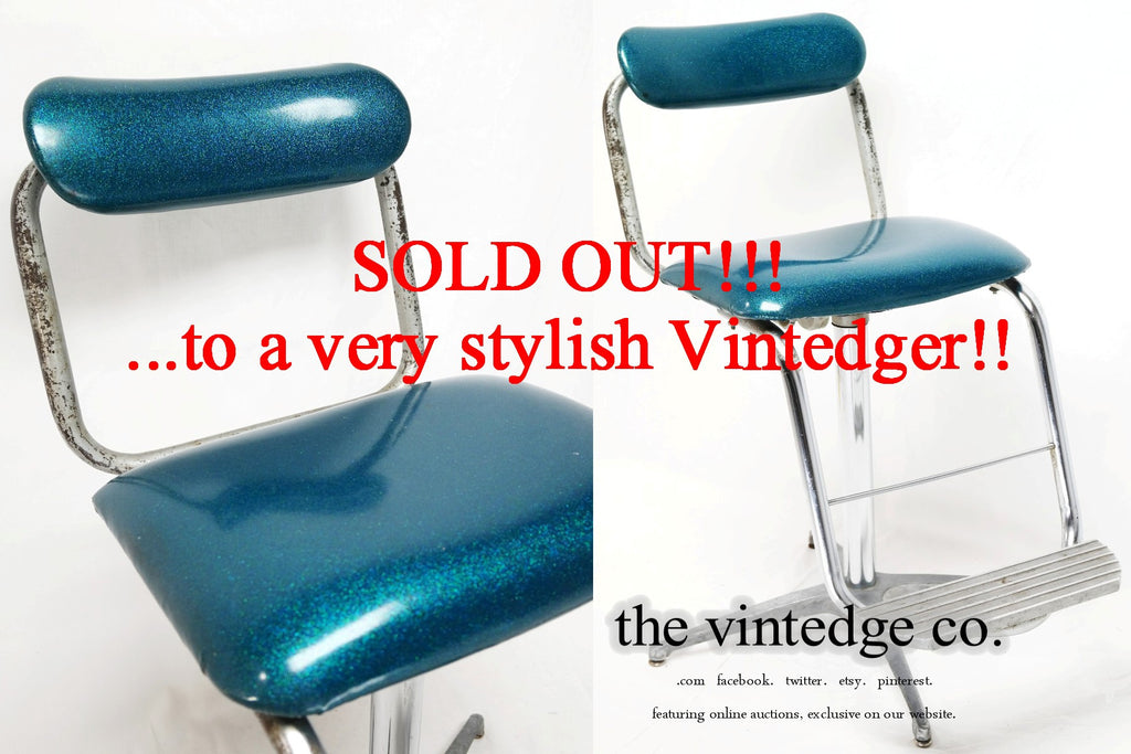 SOLD - Industrial Barber Chair