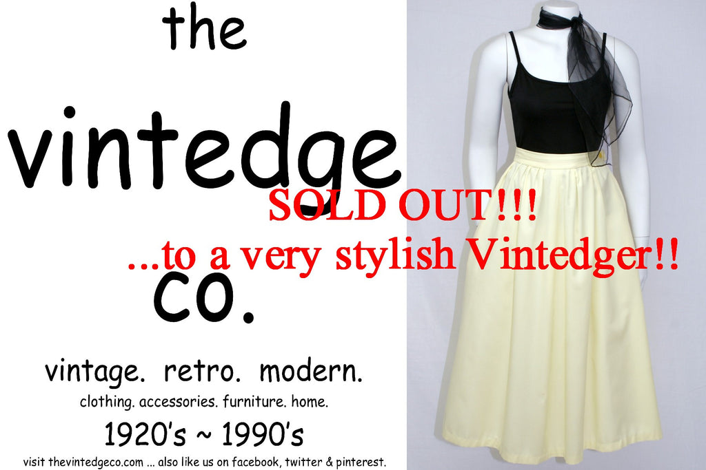 SOLD - Vintage 50's Yellow Skirt