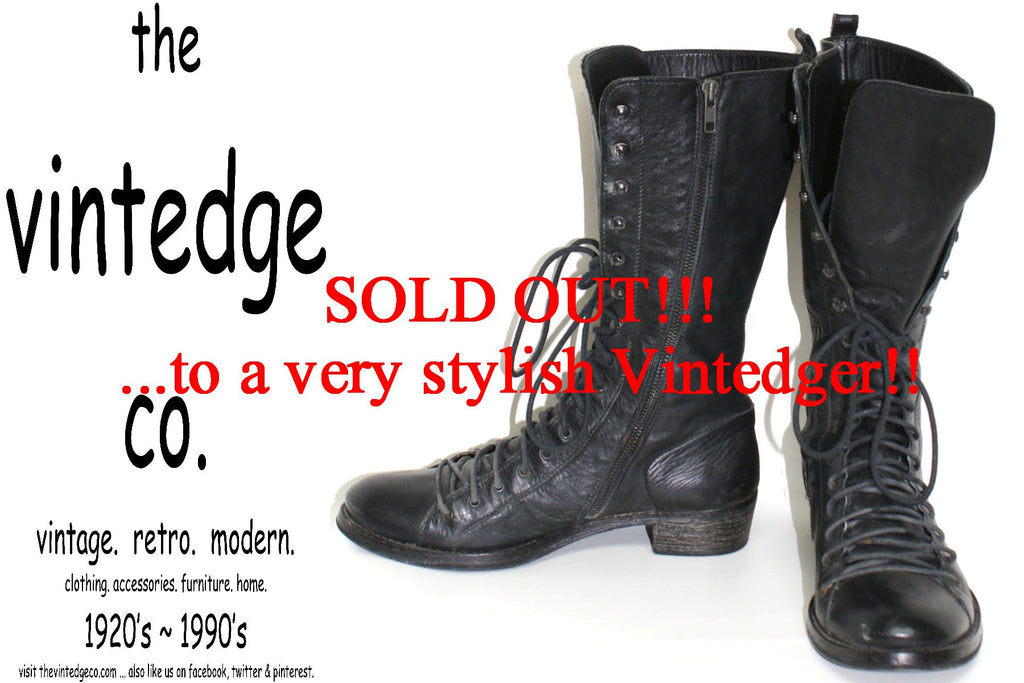 SOLD - 90s Lace Up Boots