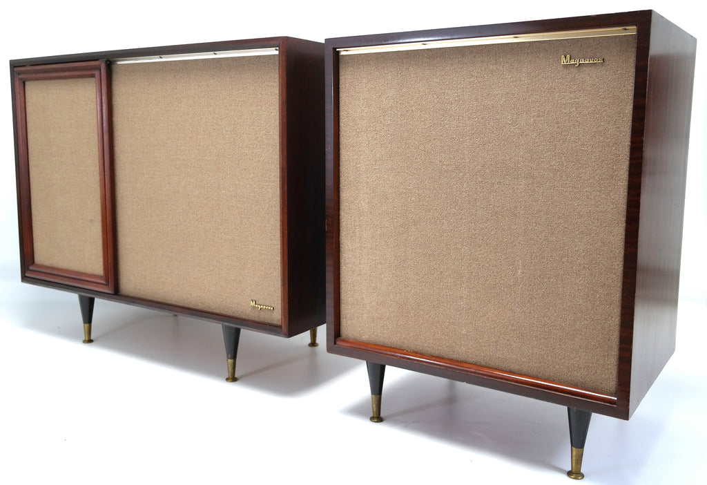 ... Mid Century Modern Magnavox Stereo Console with Extension Speaker -  Record Player - Bluetooth - Tuner ...