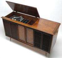 Mid Century RCA Stereo Console + Bluetooth Record Player + Tuner AM/FM  Stereo