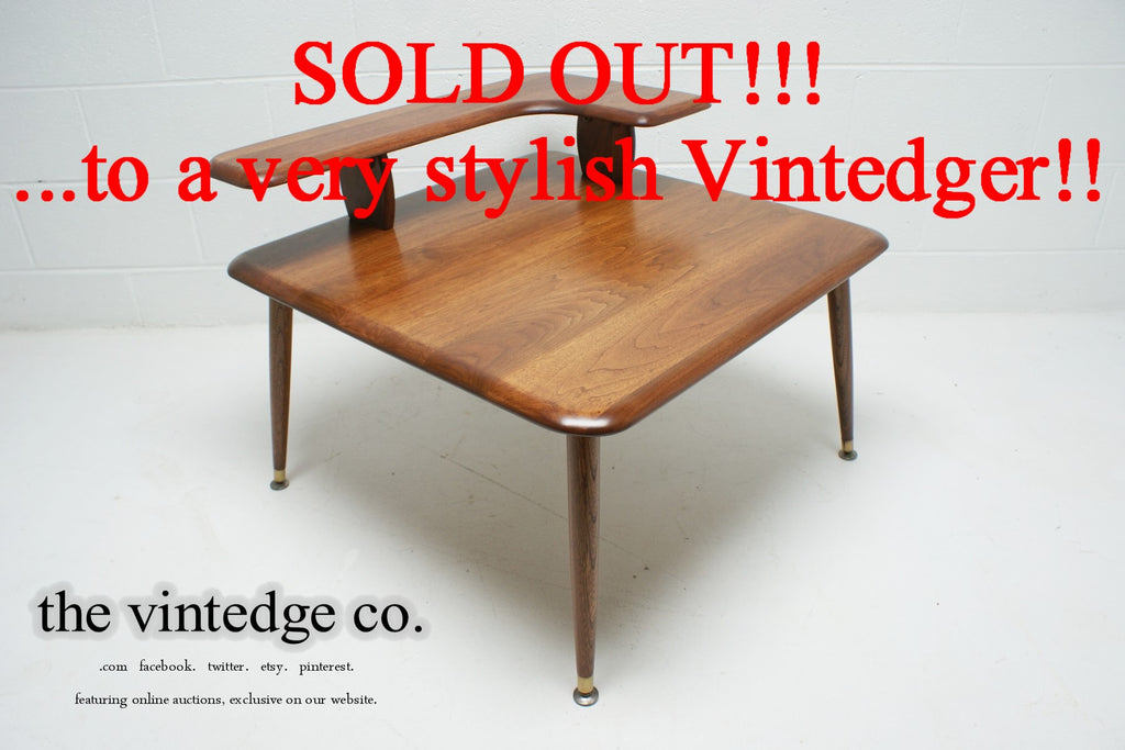 SOLD - 1960's Mid Century Corner Table