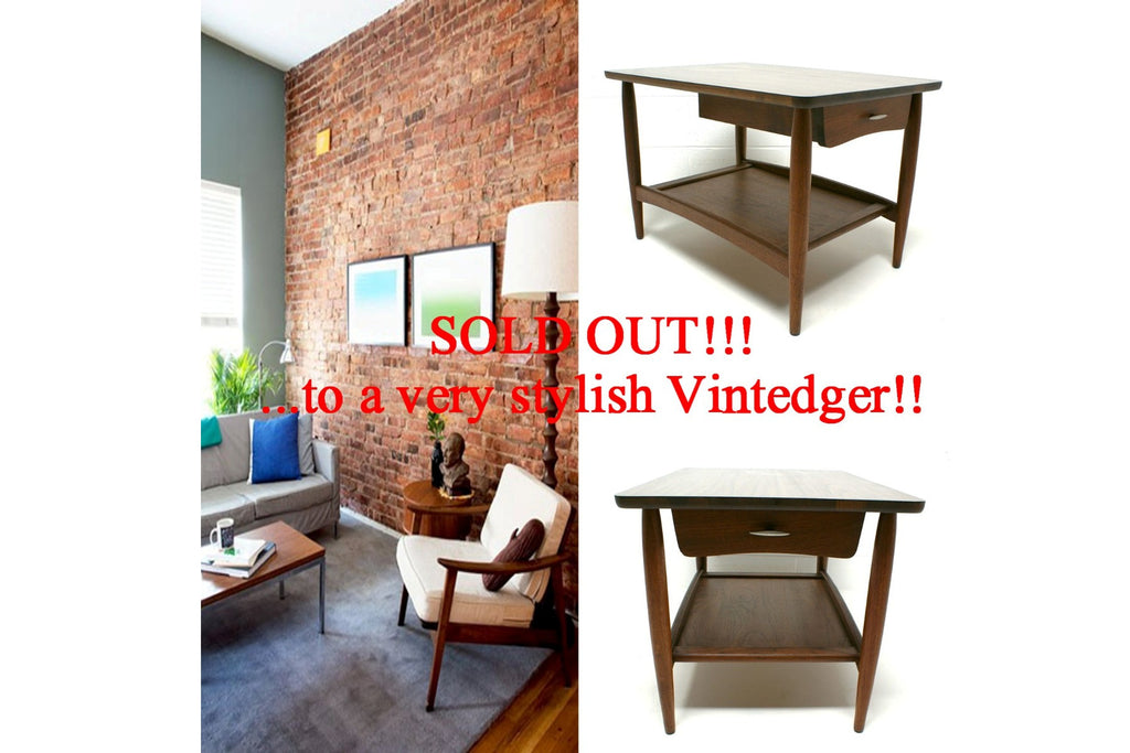 SOLD - 1960's Mid Century Side Table