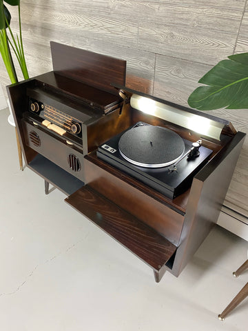 **SOLD OUT**  GRUNDIG Mid Century Vintage UTurn Orbit Turntable Hi Fi Console