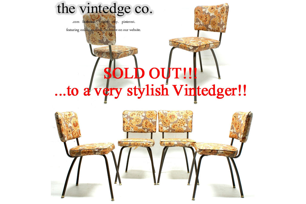 SOLD - 1960's Mid Century Kitchen Chairs S/4
