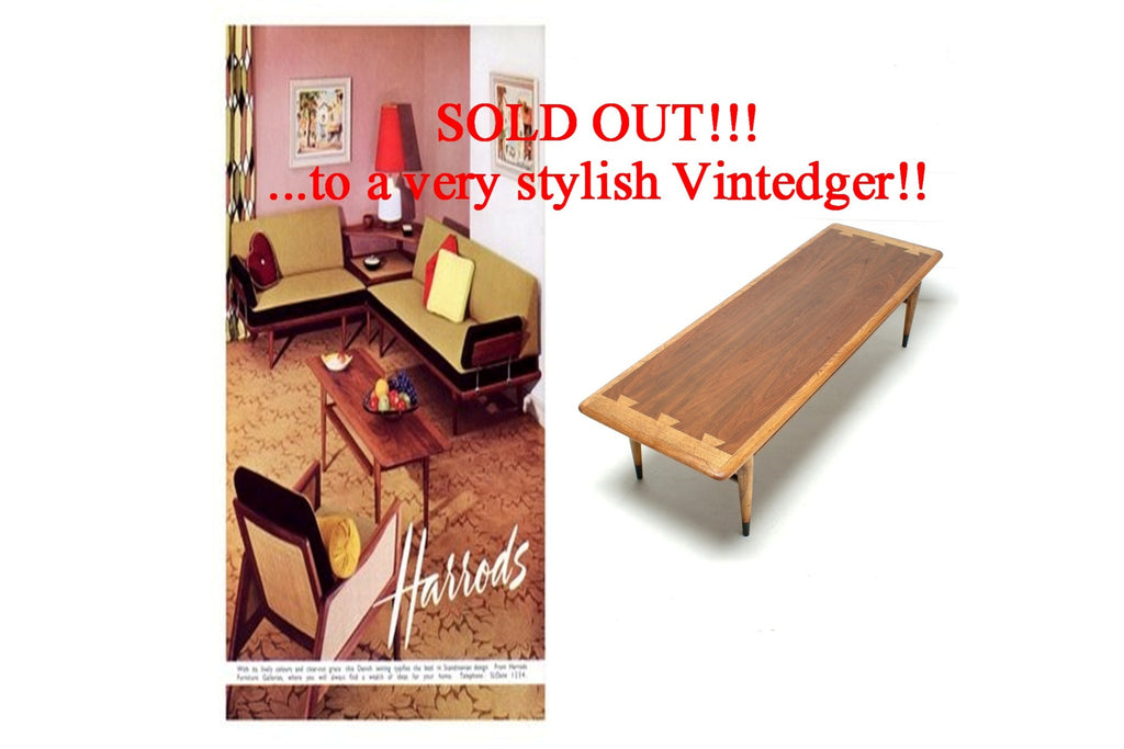 SOLD - 1960's Mid Century Lane Coffee Table