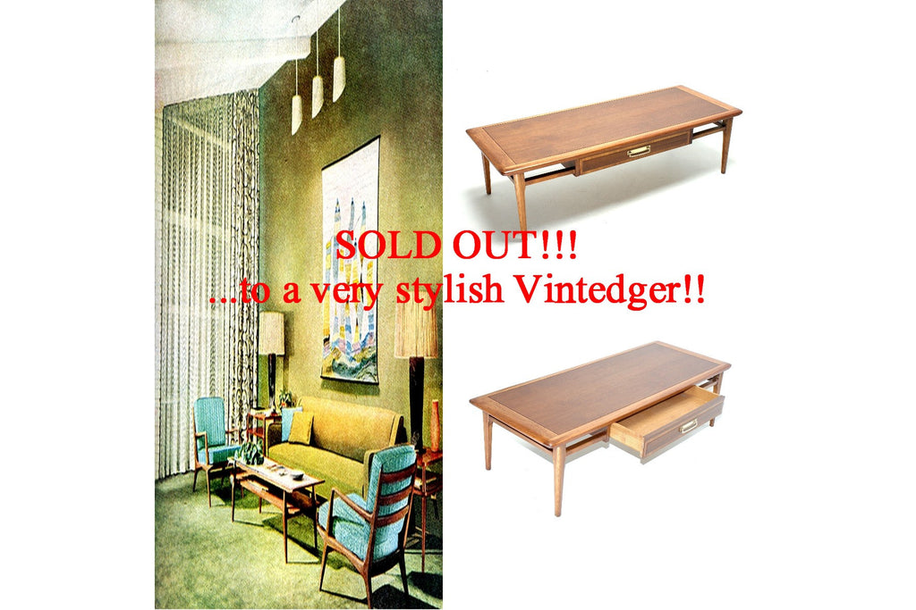 SOLD - 1960s Mid Century Acclaim Side Table
