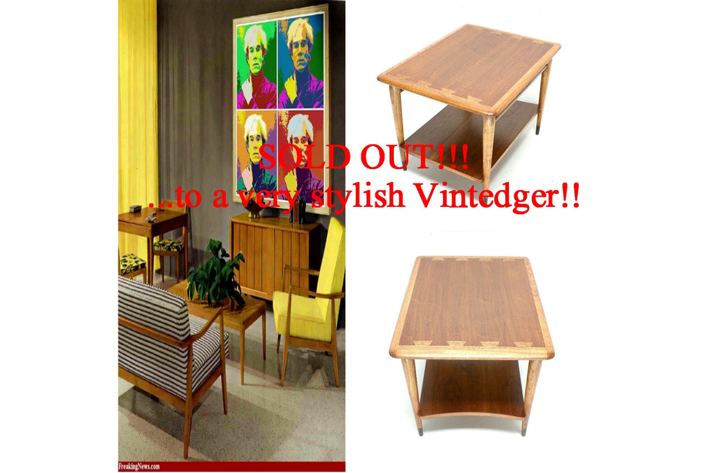 SOLD - 1960s Mid Century Acclaim Square Table