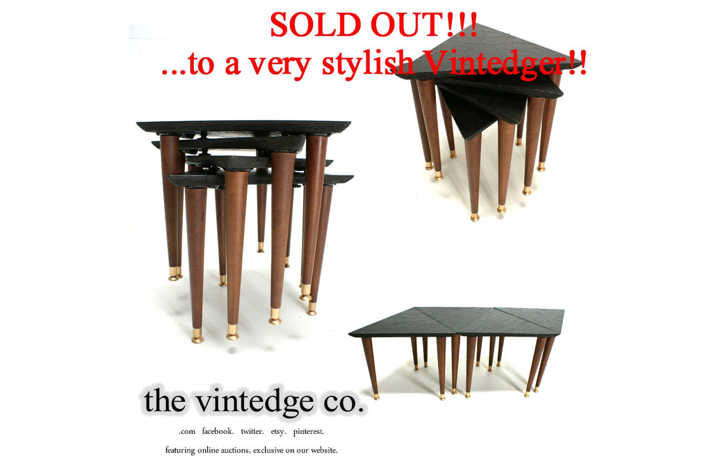 SOLD - 1950's Mid Century Nesting Tables S/4