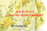 SOLD - Vintage Linen Yellow Sheets