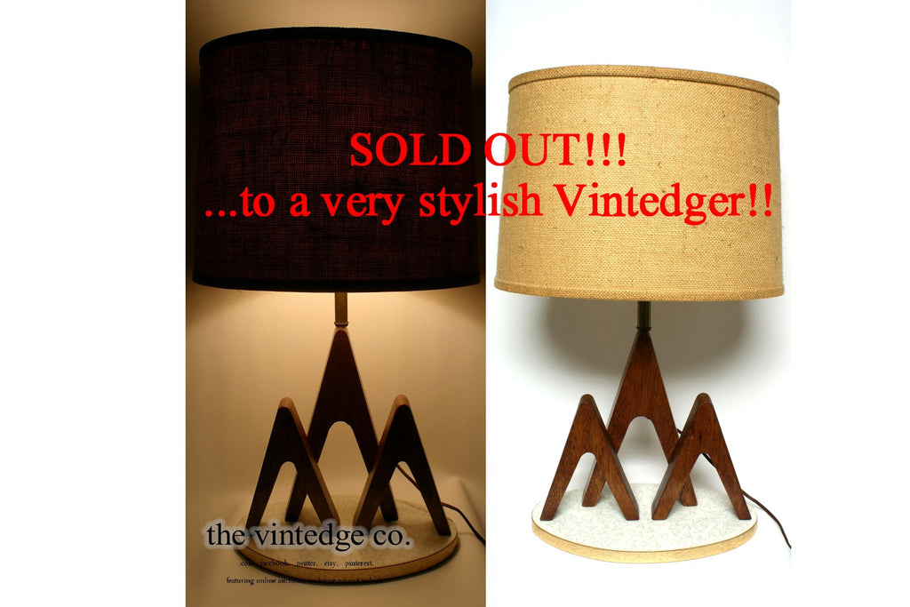SOLD - MCM 60's Teak Table Lamp