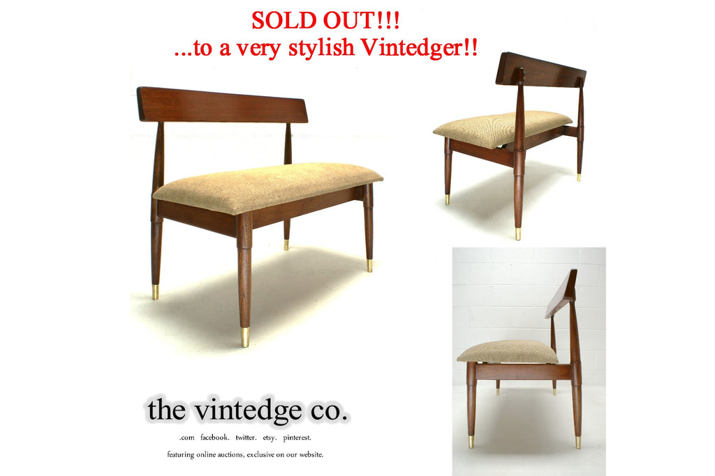 SOLD - Mid Century Modern 60's Bench Chair
