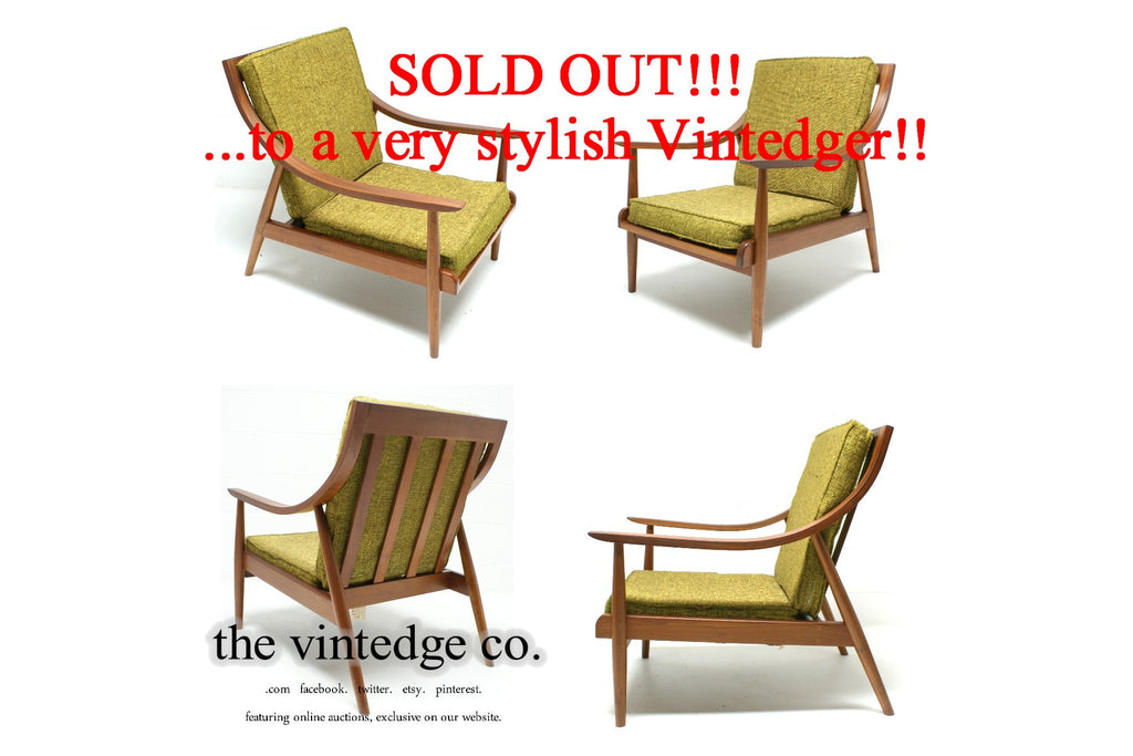 SOLD - Mid Century Danish Lounge Chair
