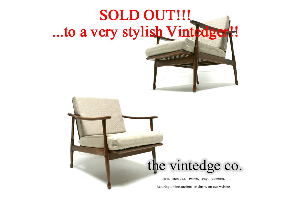 SOLD - 60's Mid Century Danish Lounge Chair