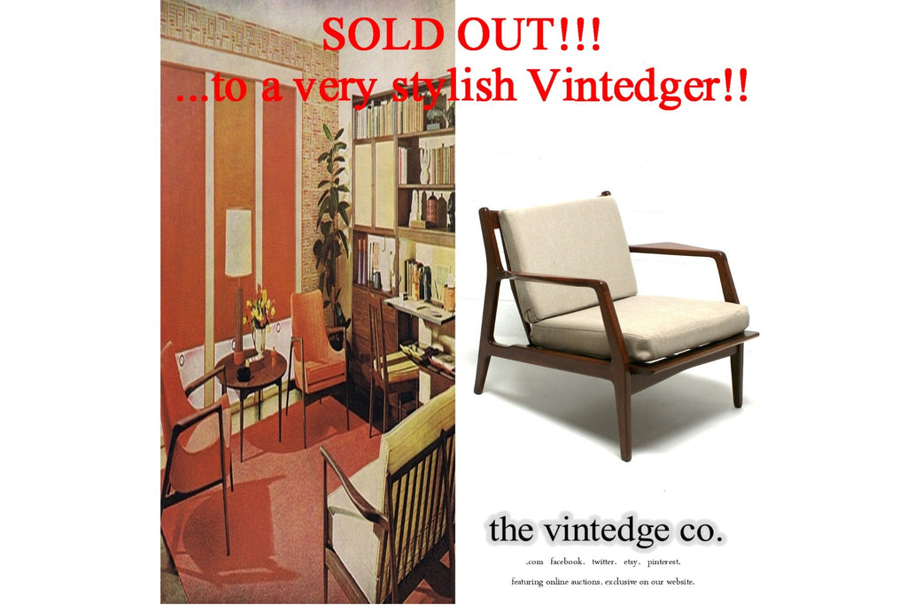 SOLD - 60's MCM Lounge Chair