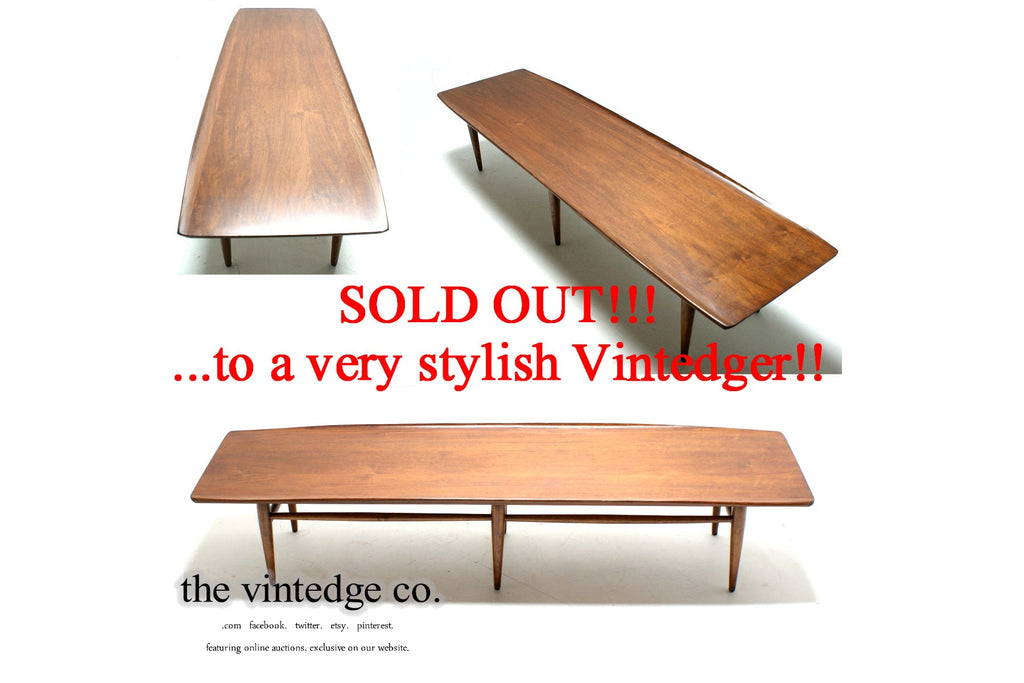 SOLD - 60's Danish Modern Long Coffee Table