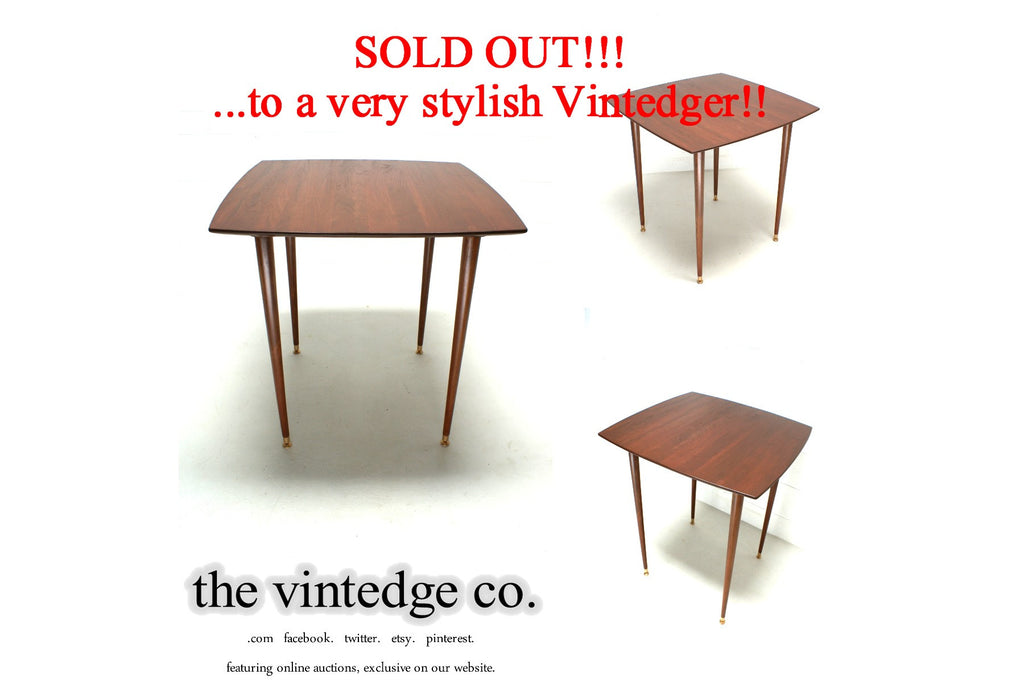 SOLD - MCM Small Teak Dining Table