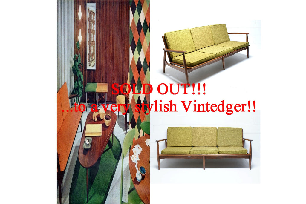 SOLD - 60's Mid Century Danish Sofa