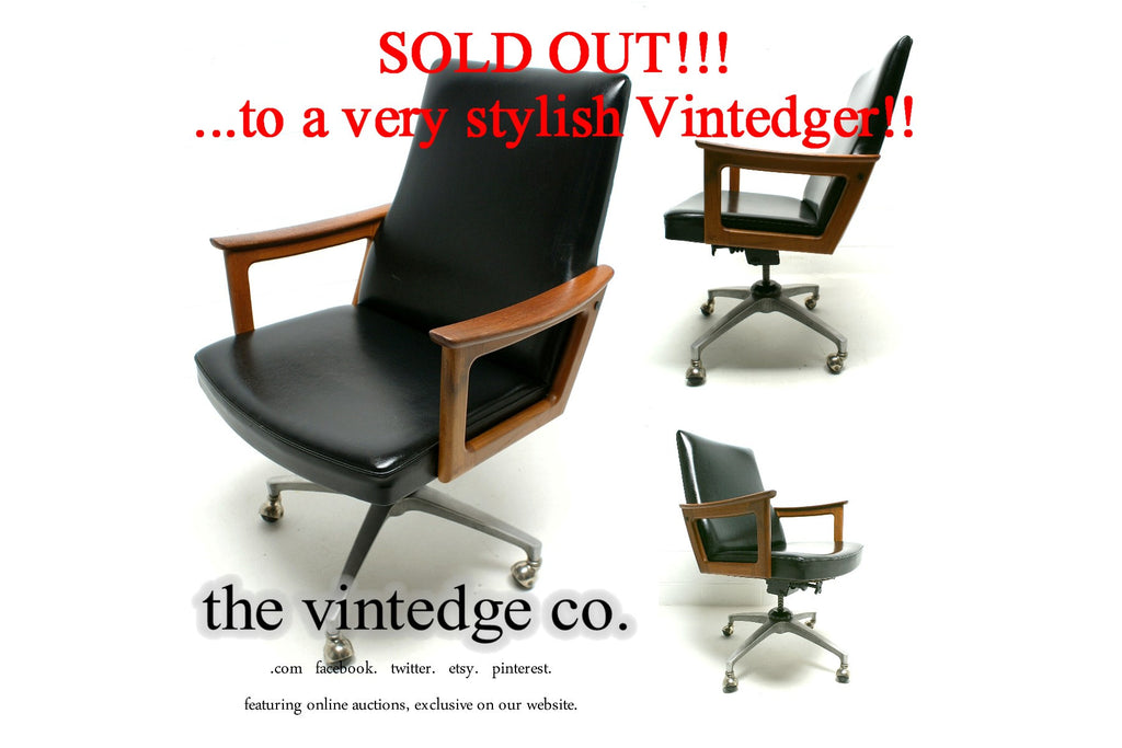 SOLD - 60's Mid Century Industrial Rocking Chair