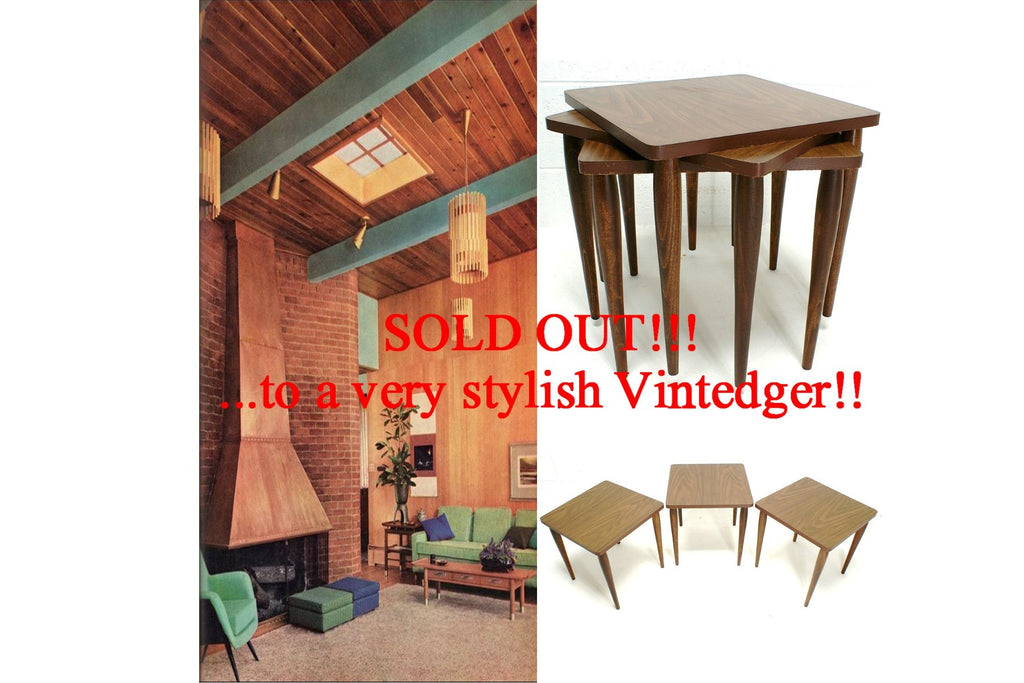 SOLD - 1950's Mid Century Nesting Tables S/3
