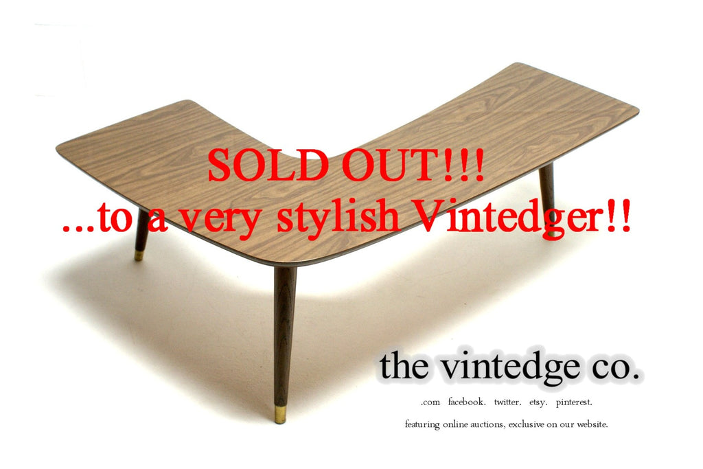 SOLD - Mid Century Boomerang Table