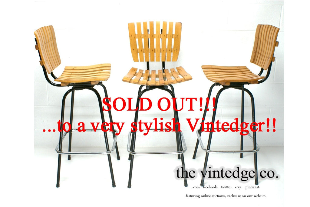 SOLD - 60's Umanoff Style Chairs S/3