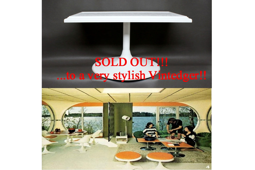 SOLD - MCM 60s Patio Tulip Table
