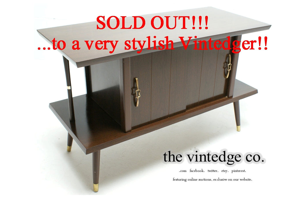 SOLD - 1950's MCM Side Console Cabinet