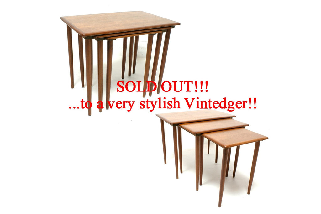 SOLD - 1960's Mid Century Nesting Tables S/3
