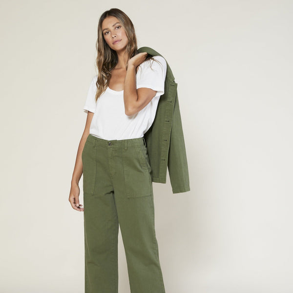 Outerknown | DENIM FIELD PANTS | olive drab