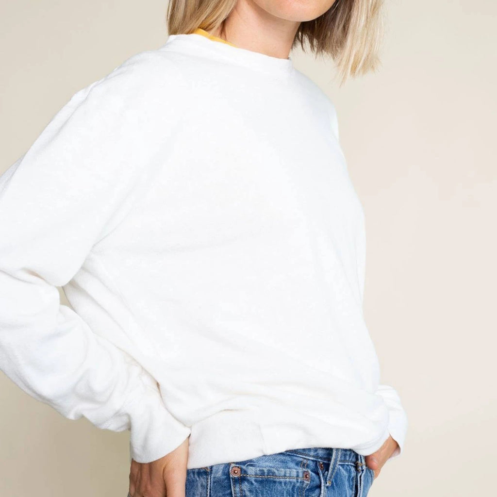 Jungmaven | CA CREWNECK | washed white